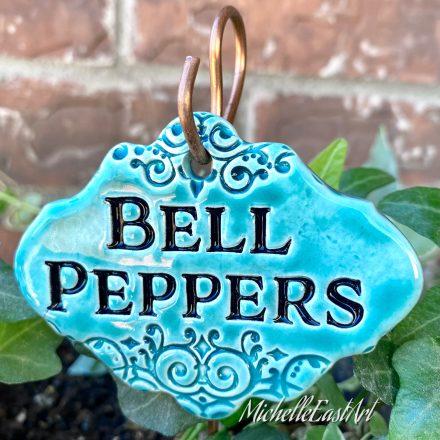 Bell Peppers garden marker label