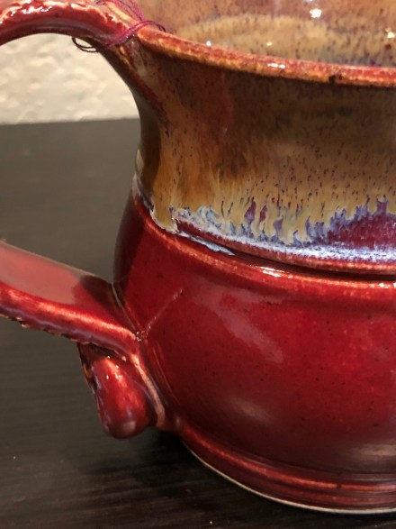 Deep firebrick mug