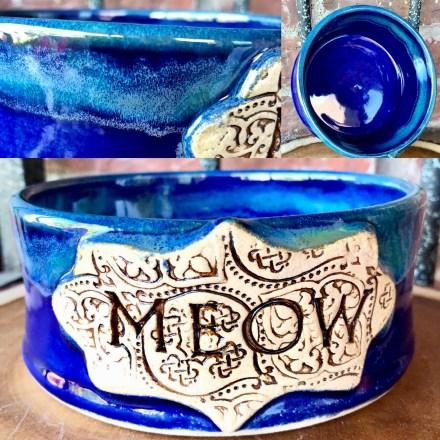 Meow Cat Bowl Stoneware