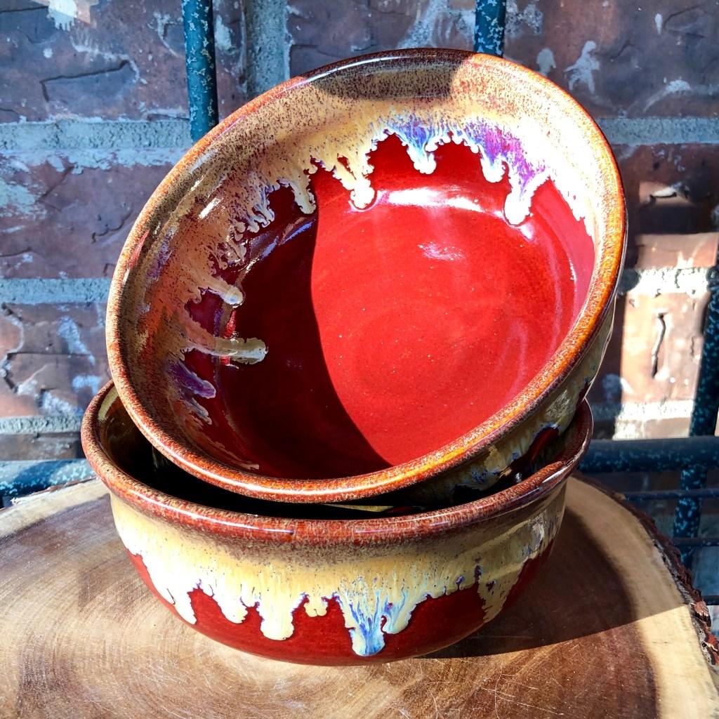 Deep Red Sands Bowl Set