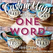 Custom ONE Word Mugs Handmade