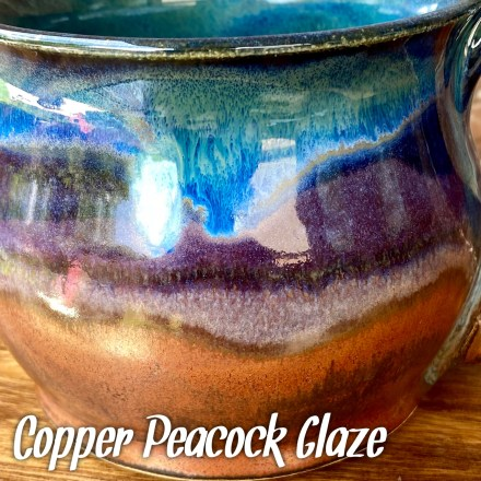Copper Peacock Glaze combo