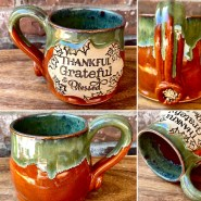 Thankful grateful blessed handmade mug