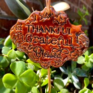 Thankful Grateful Blessed Ceramic Sign