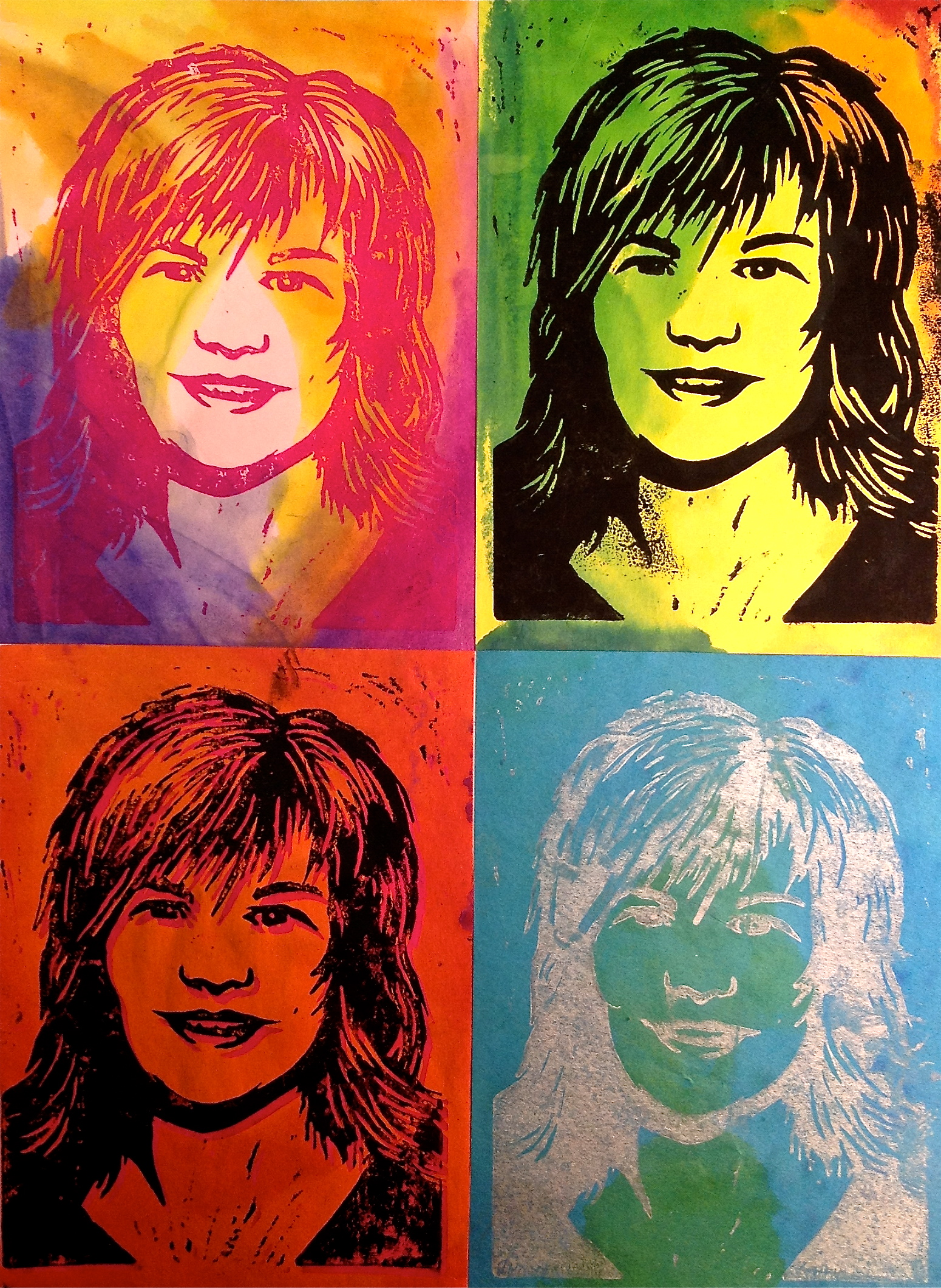 Pop Art Self Portrait Warhol Printmaking Lesson
