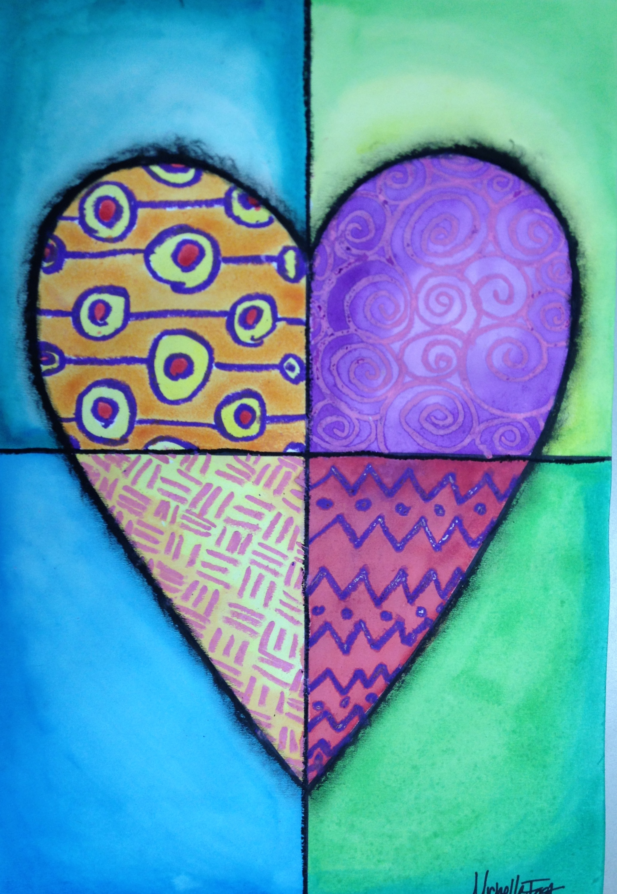 Heart Art Mixed Media Lesson Create Art With ME