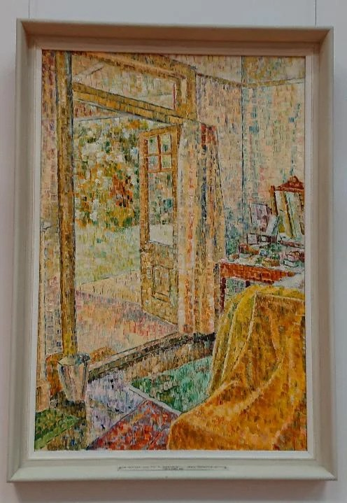 Interior onto a garden - Grace Cossington Smith