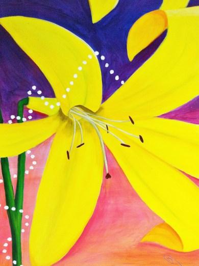 """""""DUSK"""" Lemon Lily Festival Banner (3' x 5'), partial"""