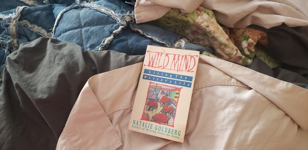 """Wild Mind"" book cover on a the bed background."