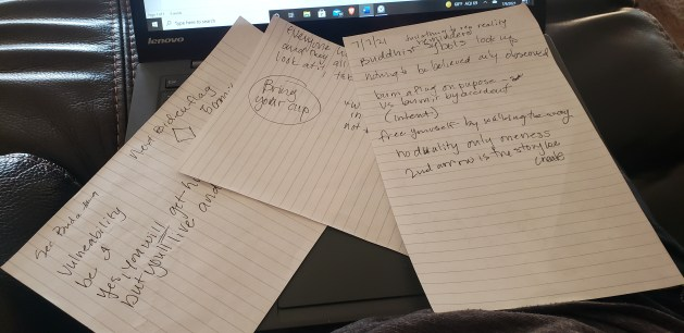 Podcast review driving notes.