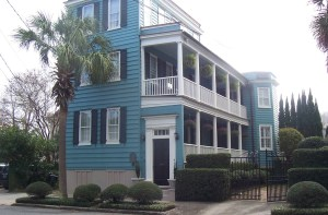 Charleston houses are usually one room wide to aid air movement during tropical summers.