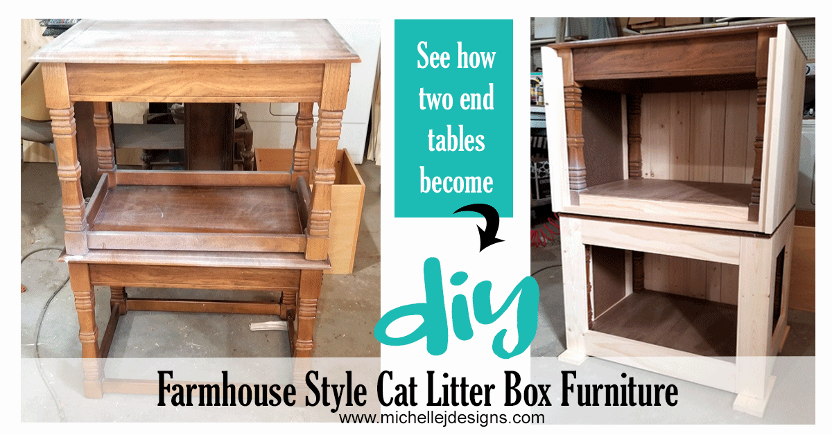 DIY Farmhouse Style Cat Litter Box Furniture For The Home