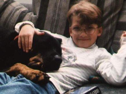 Emma dog and JD
