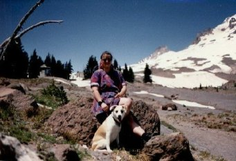 Me and Pupatee on Mt Hood