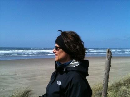 Kathleen on her beach