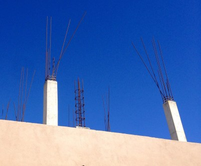 Rebar and blue sky