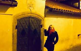 Michelle Weller at Old New Synagogue in Prague