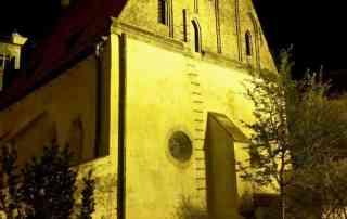 Old New Synagogue Prague after dark