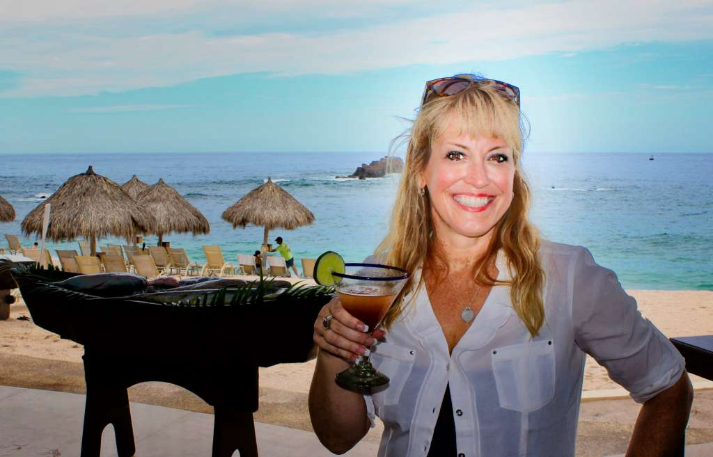 Wearing Tommy Bahama Summer Dress at Four Seasons Punta Mita