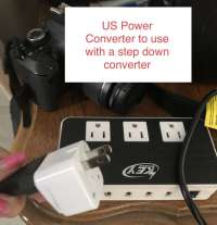 Power Converters for Travel with step-down US