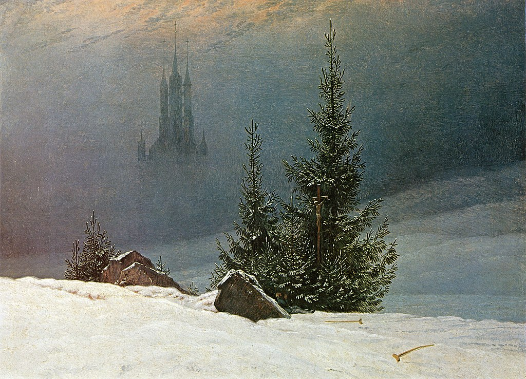 Winter Landscape with a Church (1811) by Caspar David Friedrich