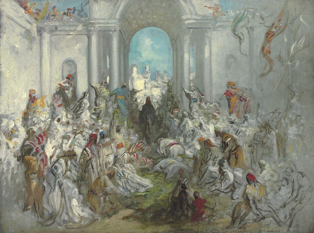 Christ's Entry into Jerusalem (date unknown) by Gustave Doré (1832-1883).