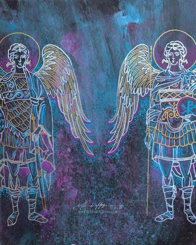 Heavenly Host (Archangels Michael and Gabriel), 2018