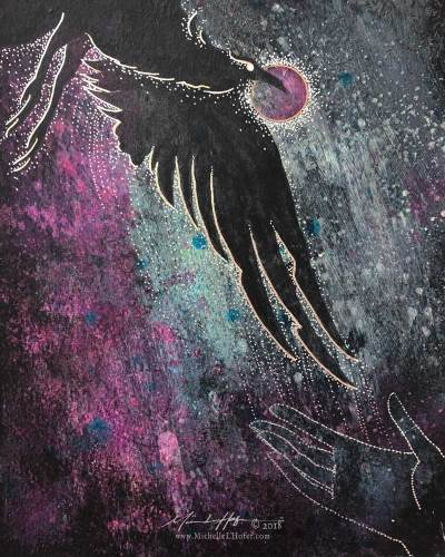 Night Reception (Elijah's Raven), 2018 by Michelle L Hofer