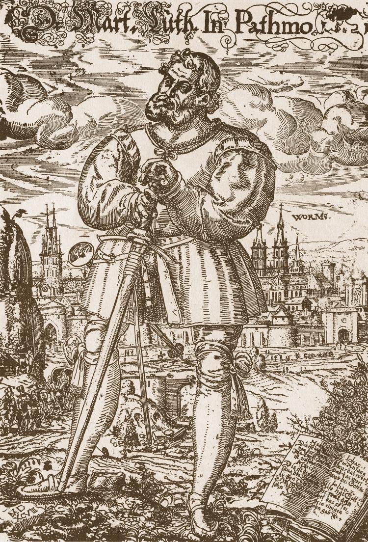 Martin Luther in Patmos, 1521 (1529) by Heinrich Göding the Elder