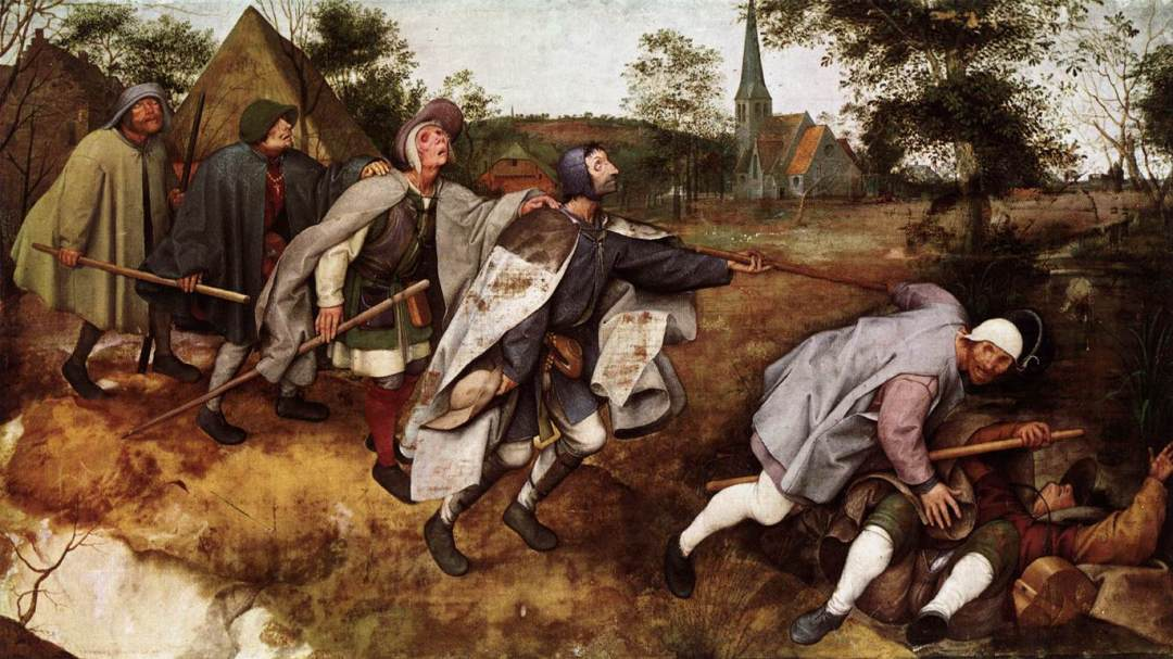 The Parable of the Blind Leading the Blind (1568) by Pieter Brugel the Elder