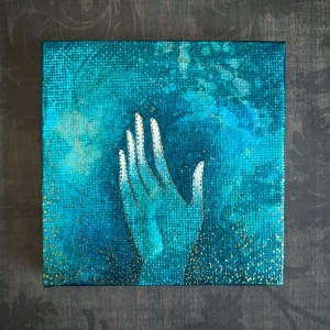 Give and Receive Mini Canvas Painting by Michelle L Hofer