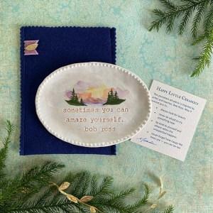 Happy Little Ceramics Dish by Michelle L Hofer