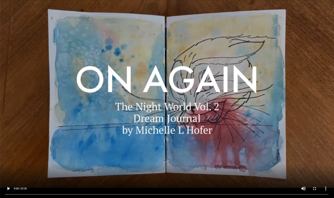 On Again Video Link - The Night World Vol. 2 Dream Journal by Michelle L Hofer