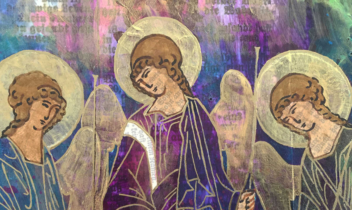 We Are One (The Holy Trinity after Rublev), 2018 by Michelle L Hofer - detail