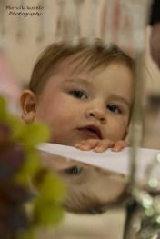 curious kid at wedding