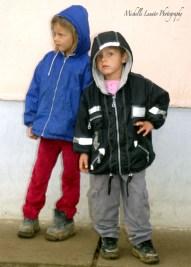 Bosnian children waiting o copy