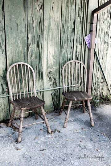 Loved how these old chairs looked.