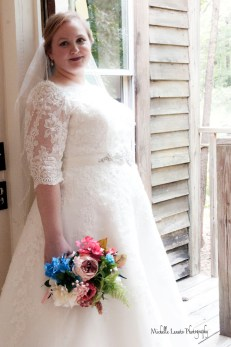 The natural light works for some bridal portraits.