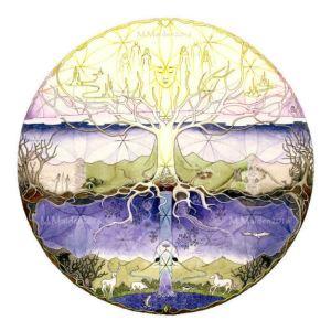 psychedelic, trip, hallucinogenic, Otherworld, spirit guide, totem animal, liminal art