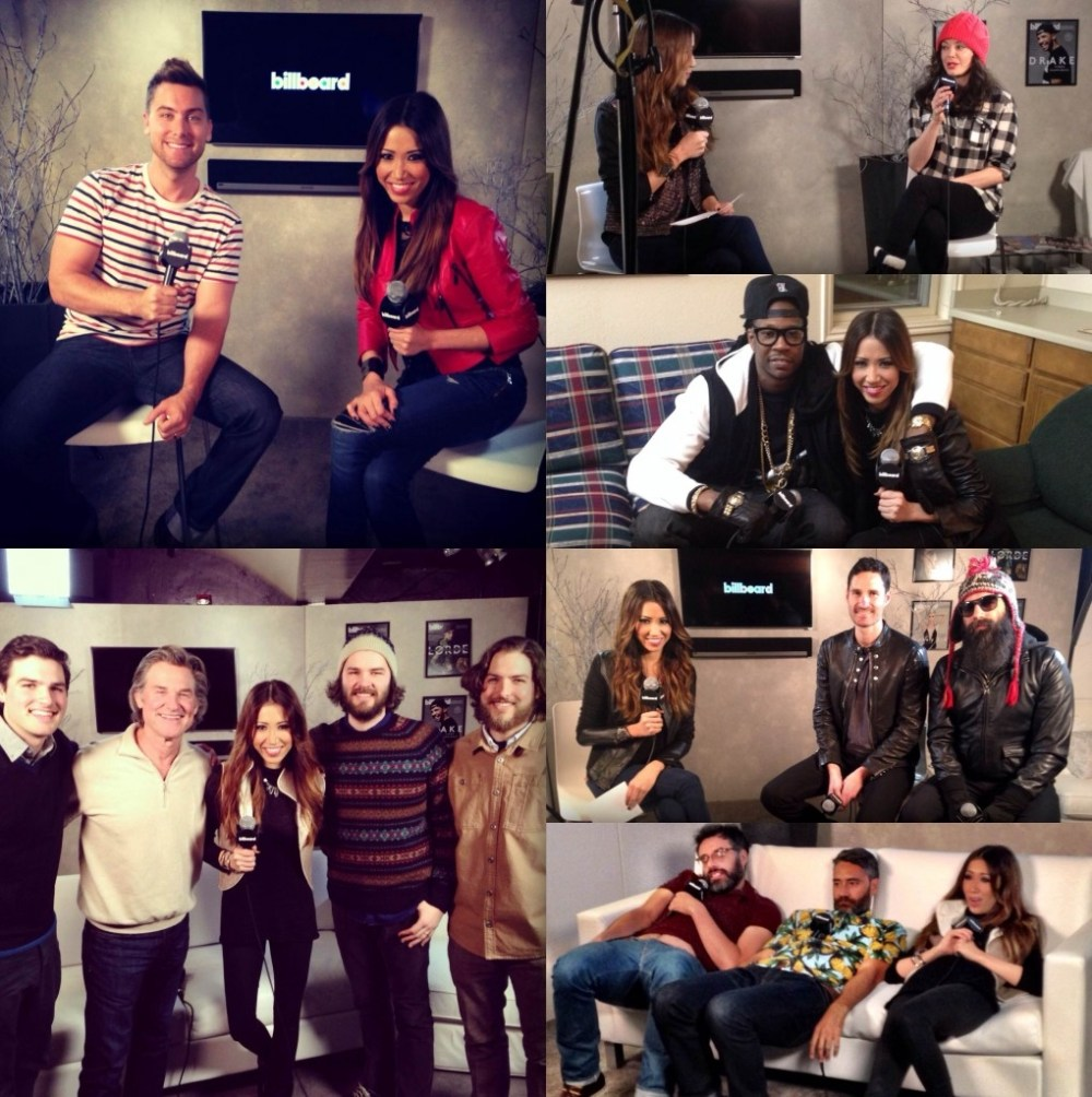 Behind the scenes action with Billboard Host, Michelle Marie