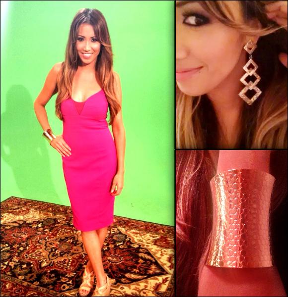 #MMSteez - Yahoo! Sports Minute: Dress: Narcisco Rodriguez (RTR) | Earrings: Gemma Simone | Cuff: Mari | Hair: Blown USA | Makeup: Venessa White
