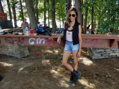 #MMSteez - tank: Tribe Kelly | vest: AMI Clubwear | Denim Shorts: Mink Pink | Necklace: Nissa | Rings: Nissa
