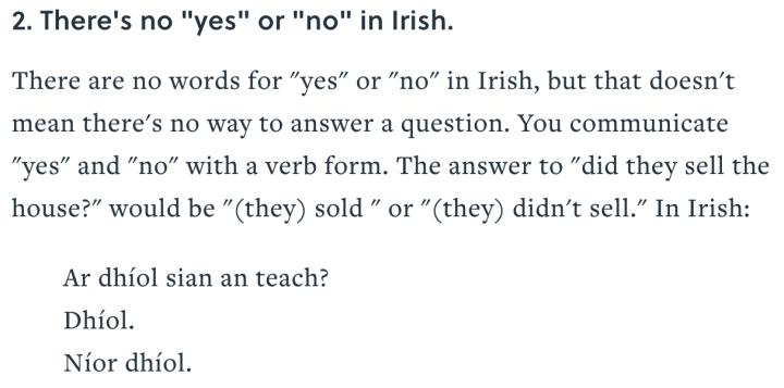 mentalfloss - Irish yes and no