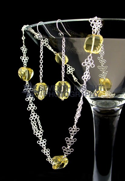 Citrine and sterling silver jewellery collection by Tony Cabral