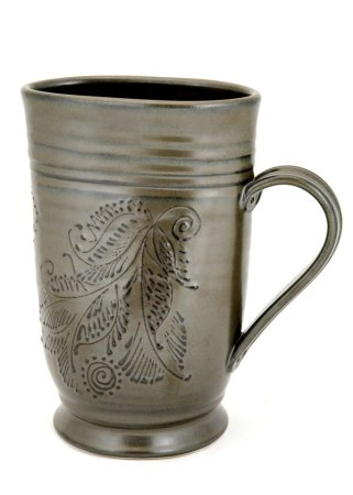 Hand-illustrated ceramic pitcher by Pavlo Pottery