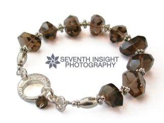 Smokey quartz bracelet by Stephanie King Jewellery