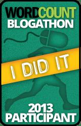 The WordCount Blogathon I Did It 2013 participant badge