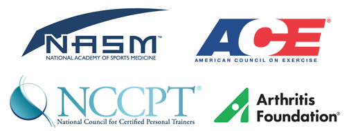Certified by NASM ACE AF NCCPT