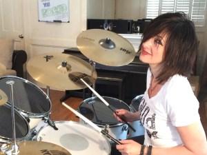 Michelle Sandlin on Drums