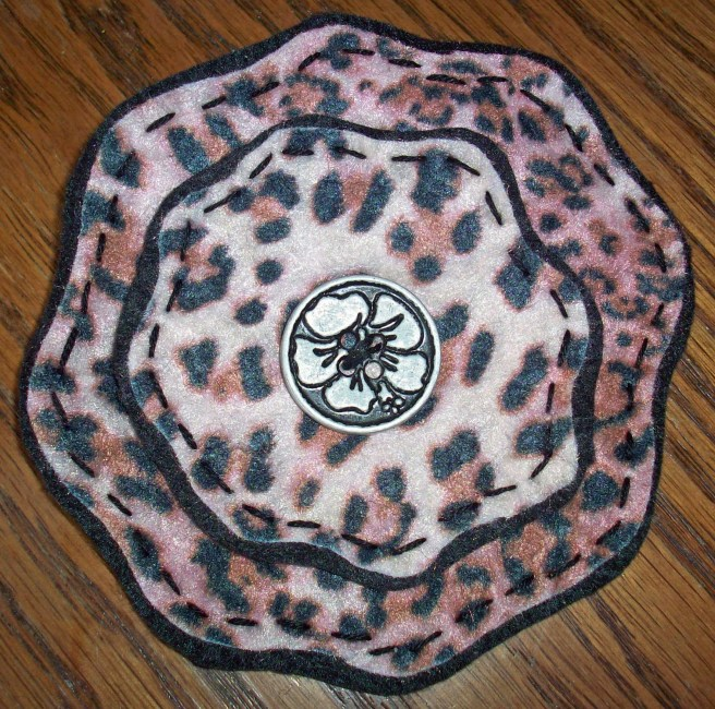 leopard print brooch